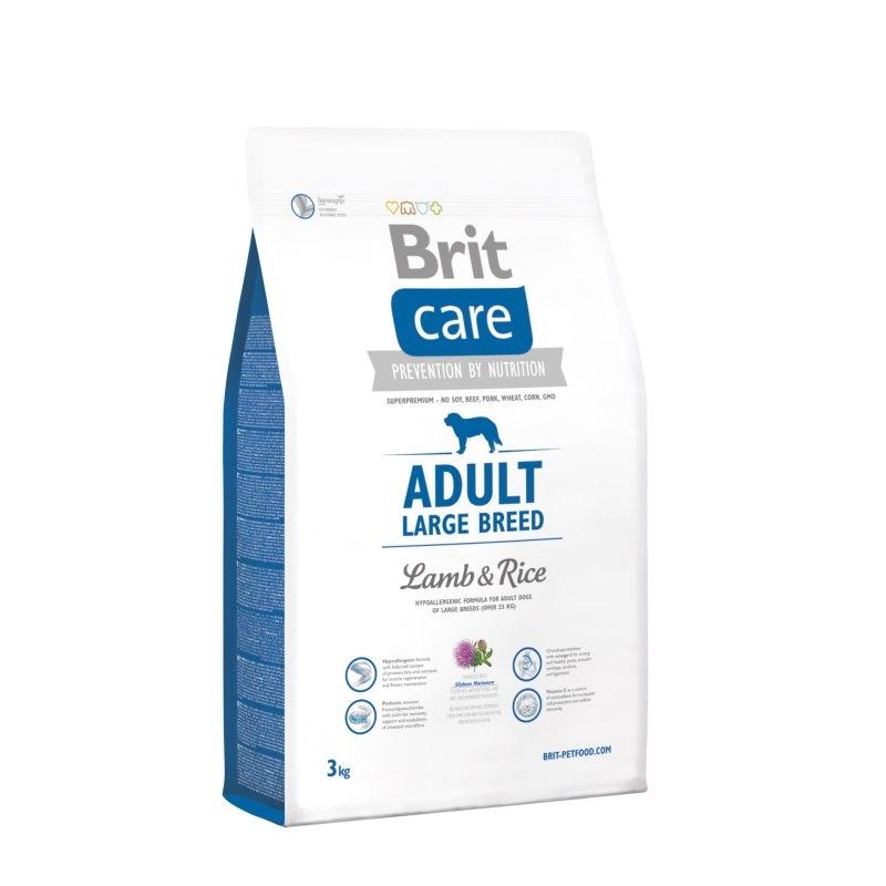 Brit Care Adult Large Breed Lamb & Rice, 3 kg imagine