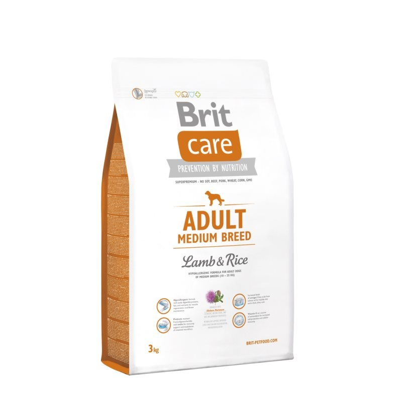 Brit Care Adult Medium Breed Lamb & Rice, 3 kg imagine
