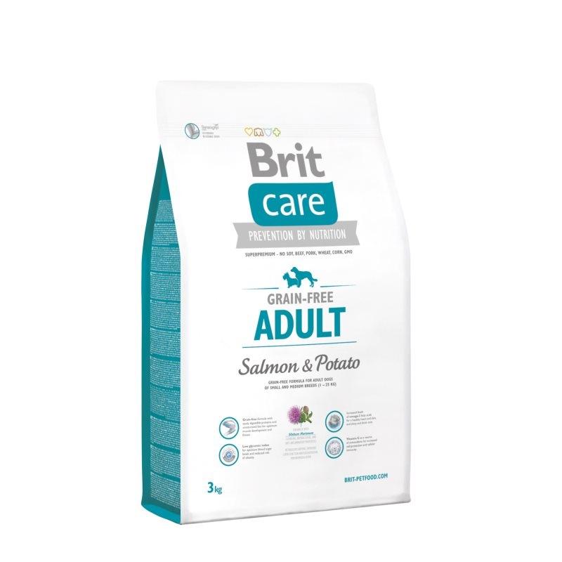 Brit Care Grain-free Adult Salmon & Potato, 3 kg imagine