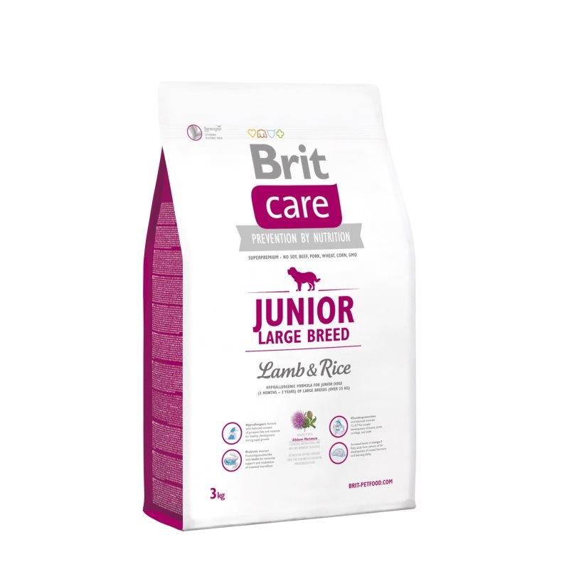 Brit Care Junior Large Breed Lamb & Rice, 3 kg imagine