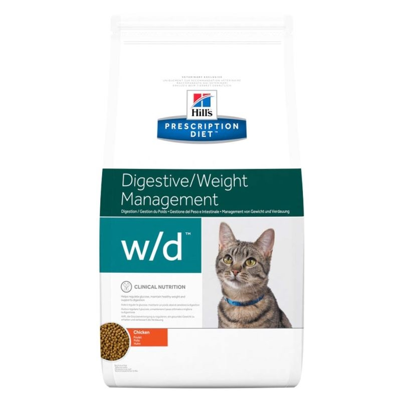 Hill's PD w/d Digestive, Weight Management hrana pentru pisici 5 kg imagine