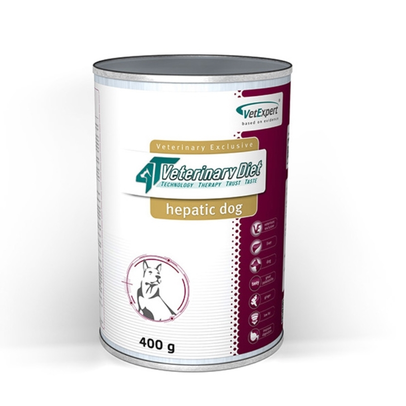 4T- Dieta umeda Hepatic dog, 400 g imagine