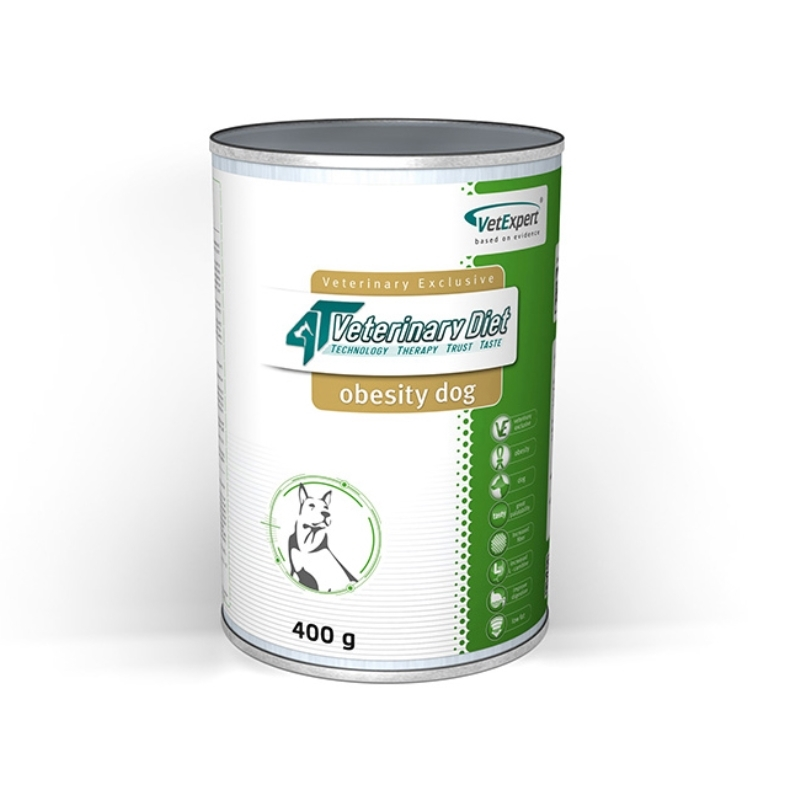 4T- Dieta umeda Obesity dog, 400 g imagine