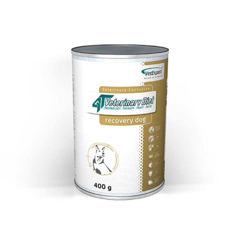 4T- Dieta umeda Recovery dog, 400 g imagine