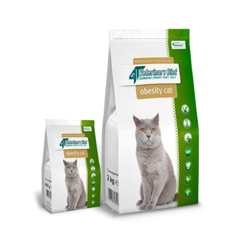 4T Veterinary Diet Obesity cat, 2 kg imagine