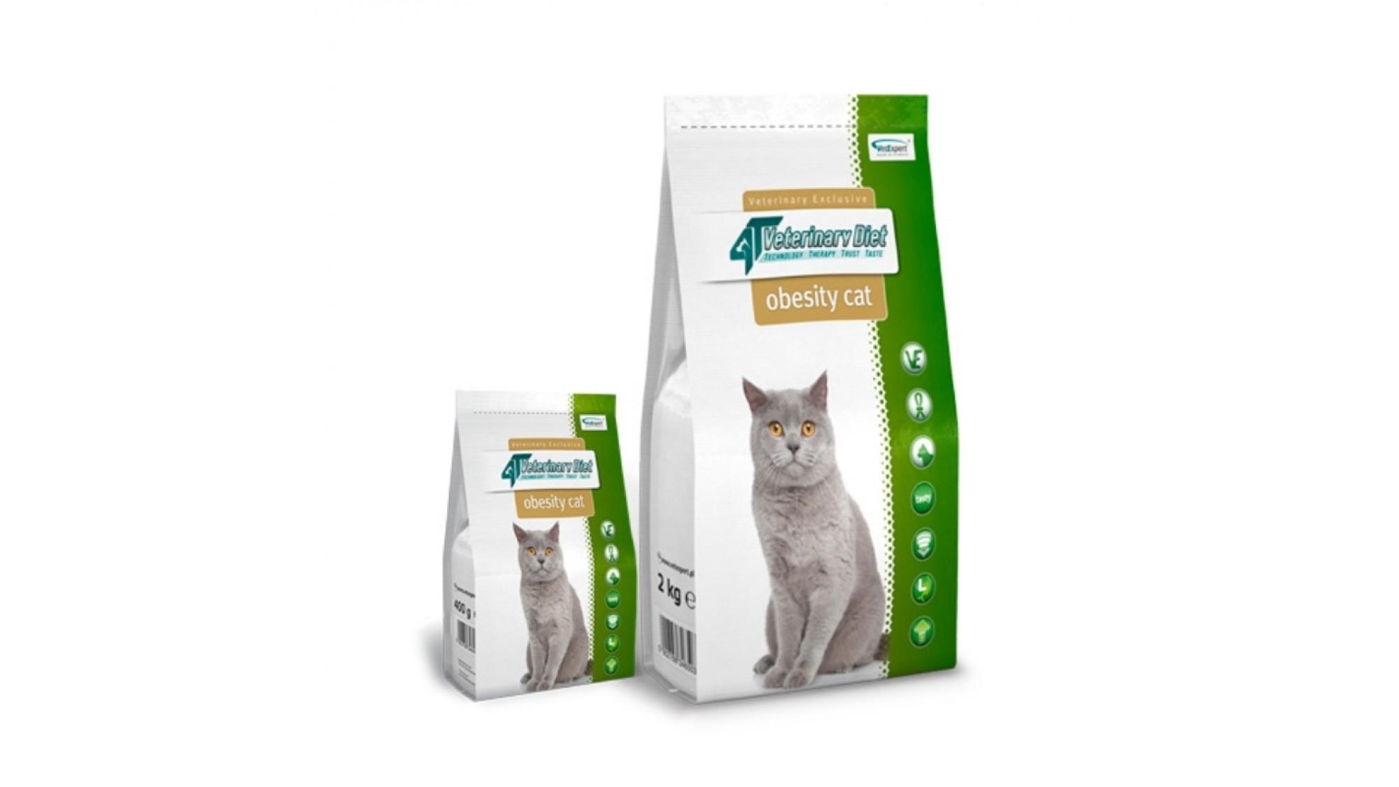 4T Veterinary Diet Obesity Cat, 400 g imagine