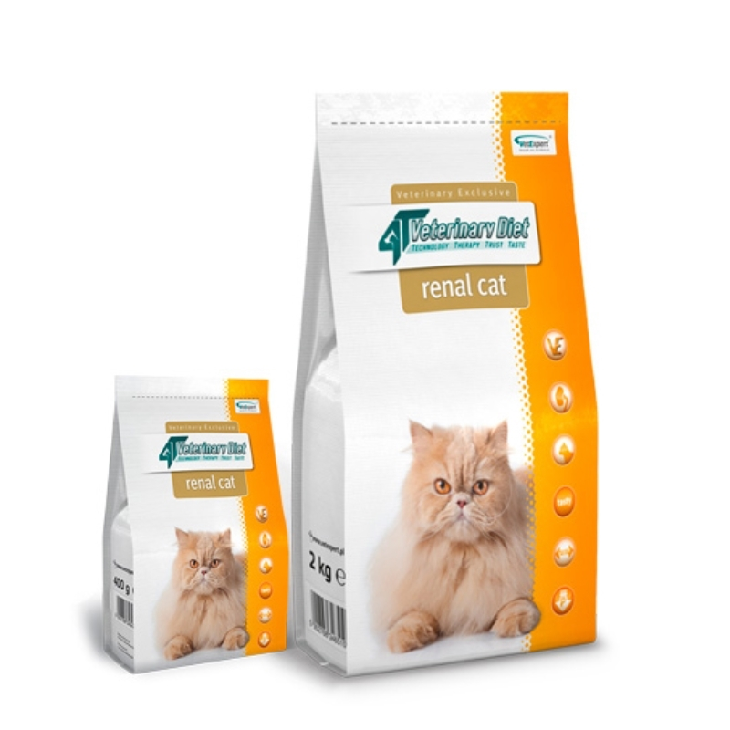 4T Veterinary Diet Renal cat, 2 kg imagine