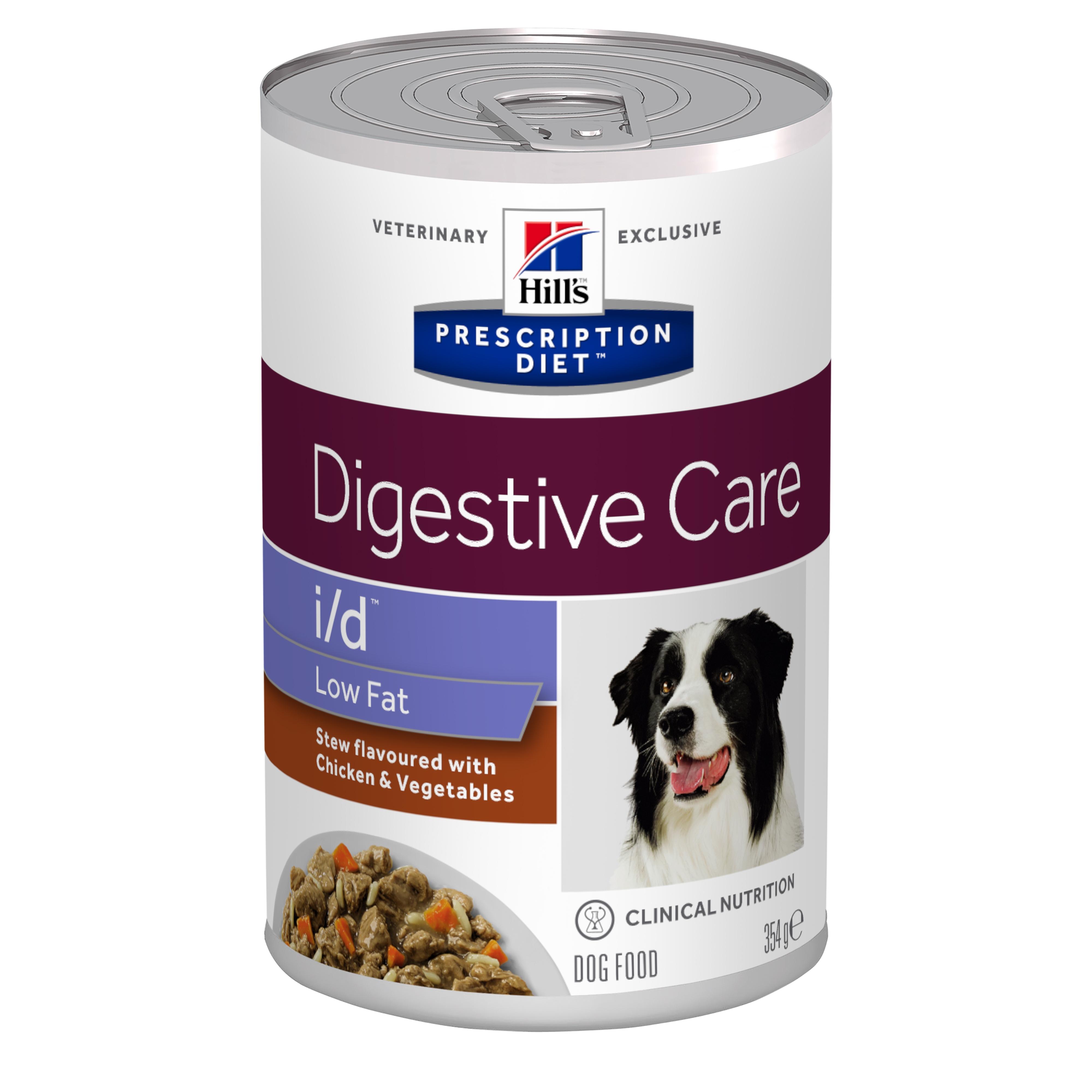Hill's PD i/d Low Fat Digestive Care hrana pentru caini cu pui si legume, 354 g imagine