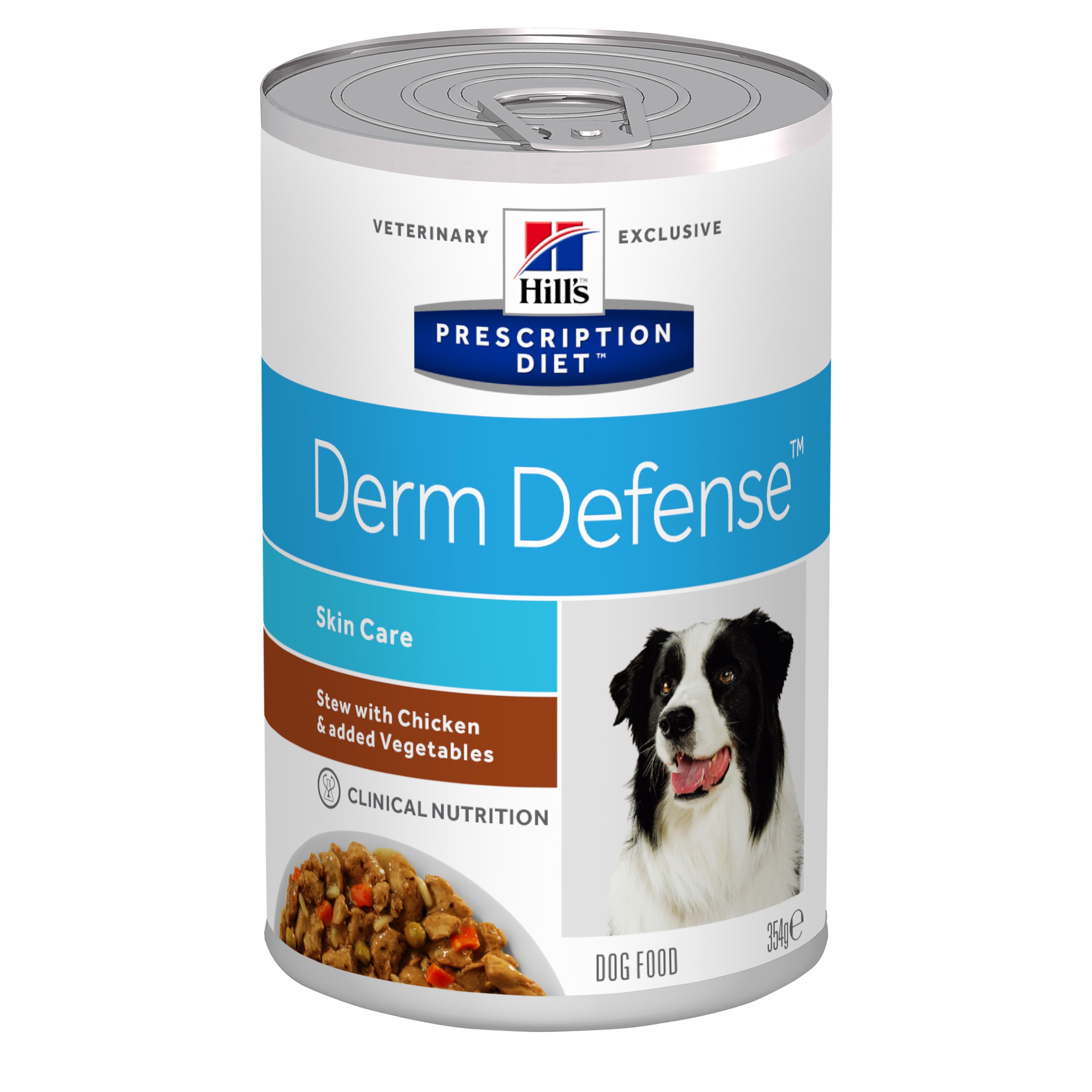 Hill's PD Derm Defense Skin Care hrana pentru caini cu pui si legume, 354 g imagine