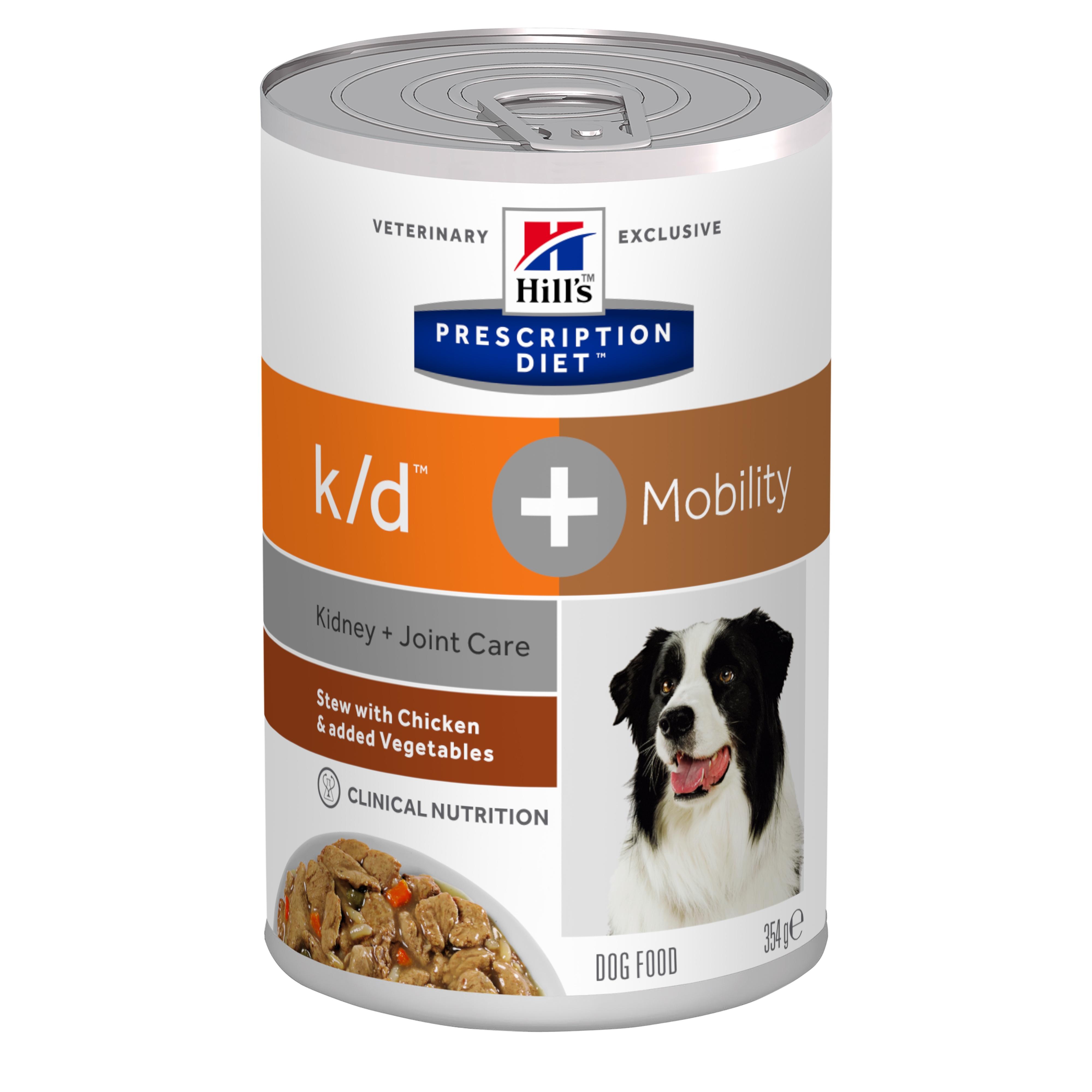 Hill's PD K/D Plus Mobility hrană pentru câini cu pui și legume, 354 g imagine