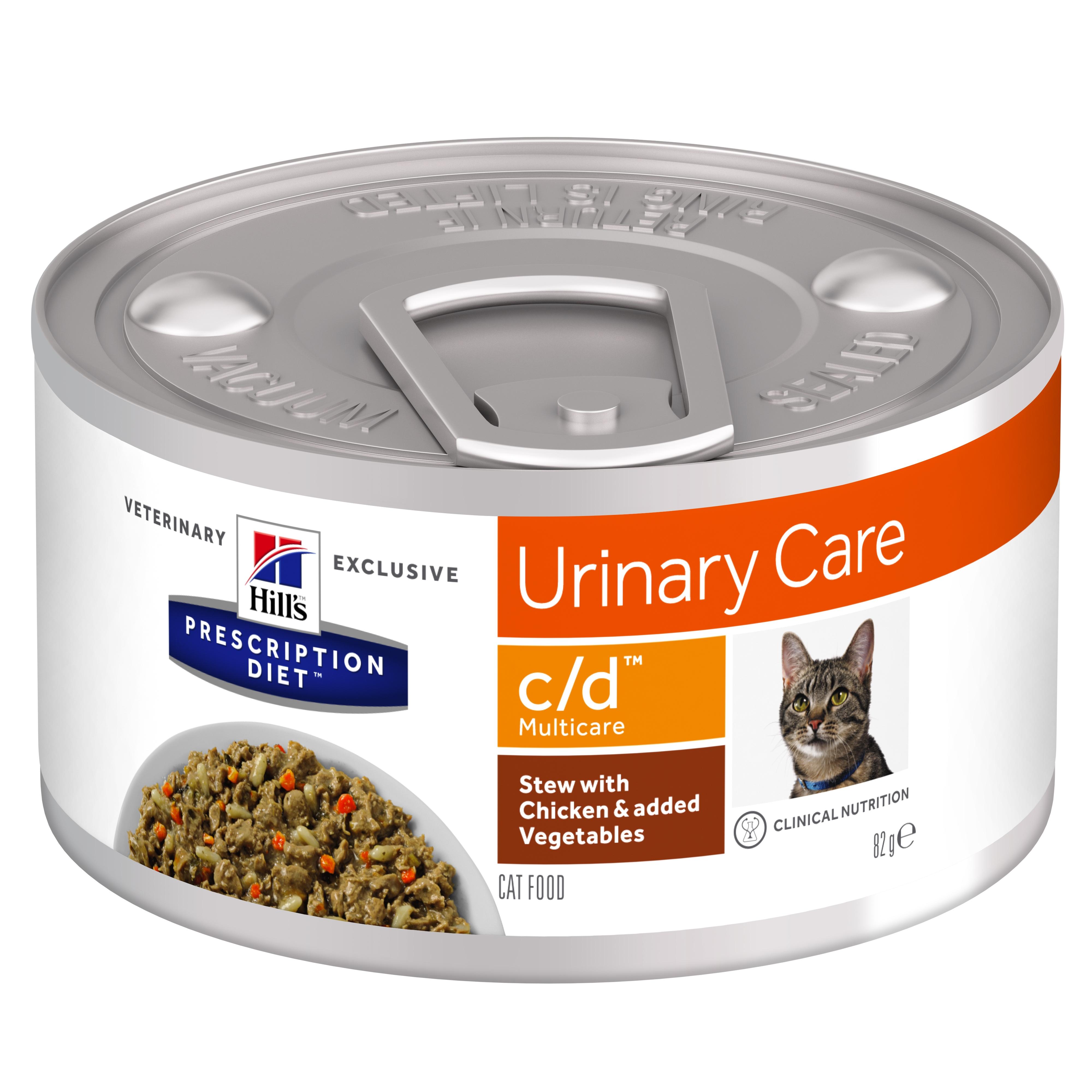 Hill's PD c/d Urinary Care hrana pentru pisici cu pui si legume, 82 g imagine