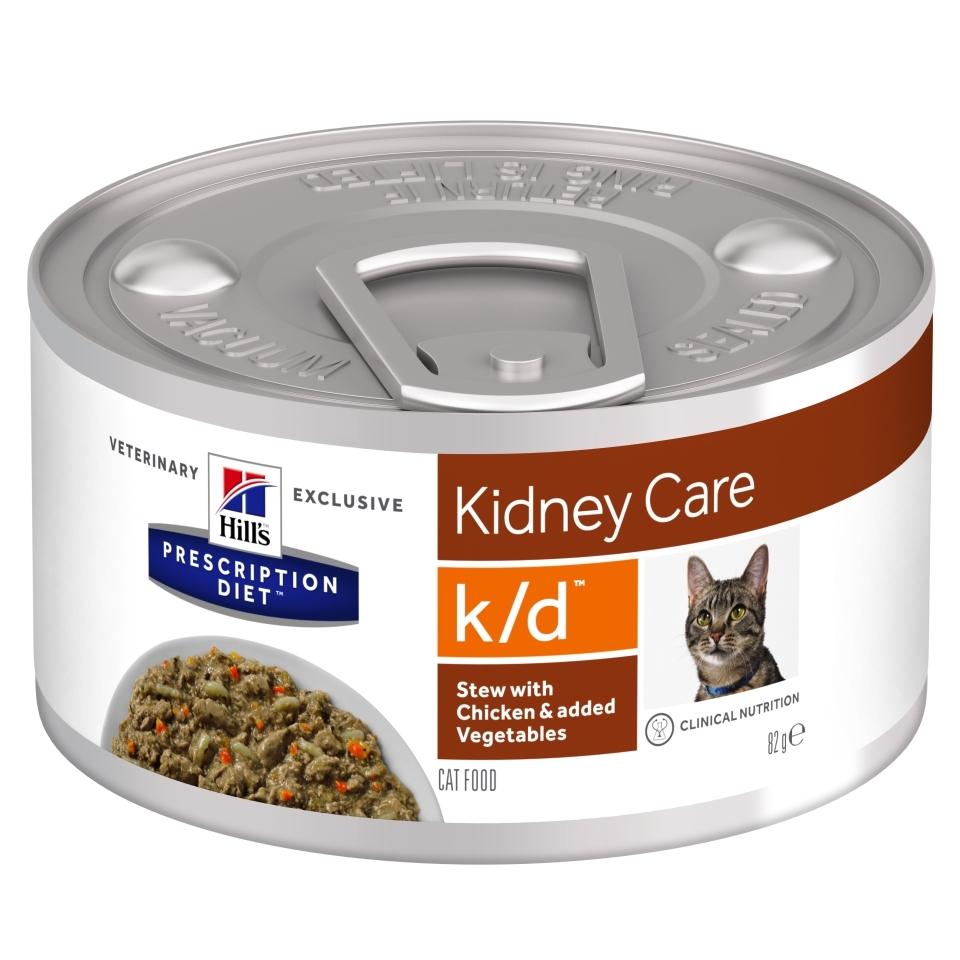 Hill's PD K/D Stew hrană pentru pisici cu pui și legume, 82g imagine