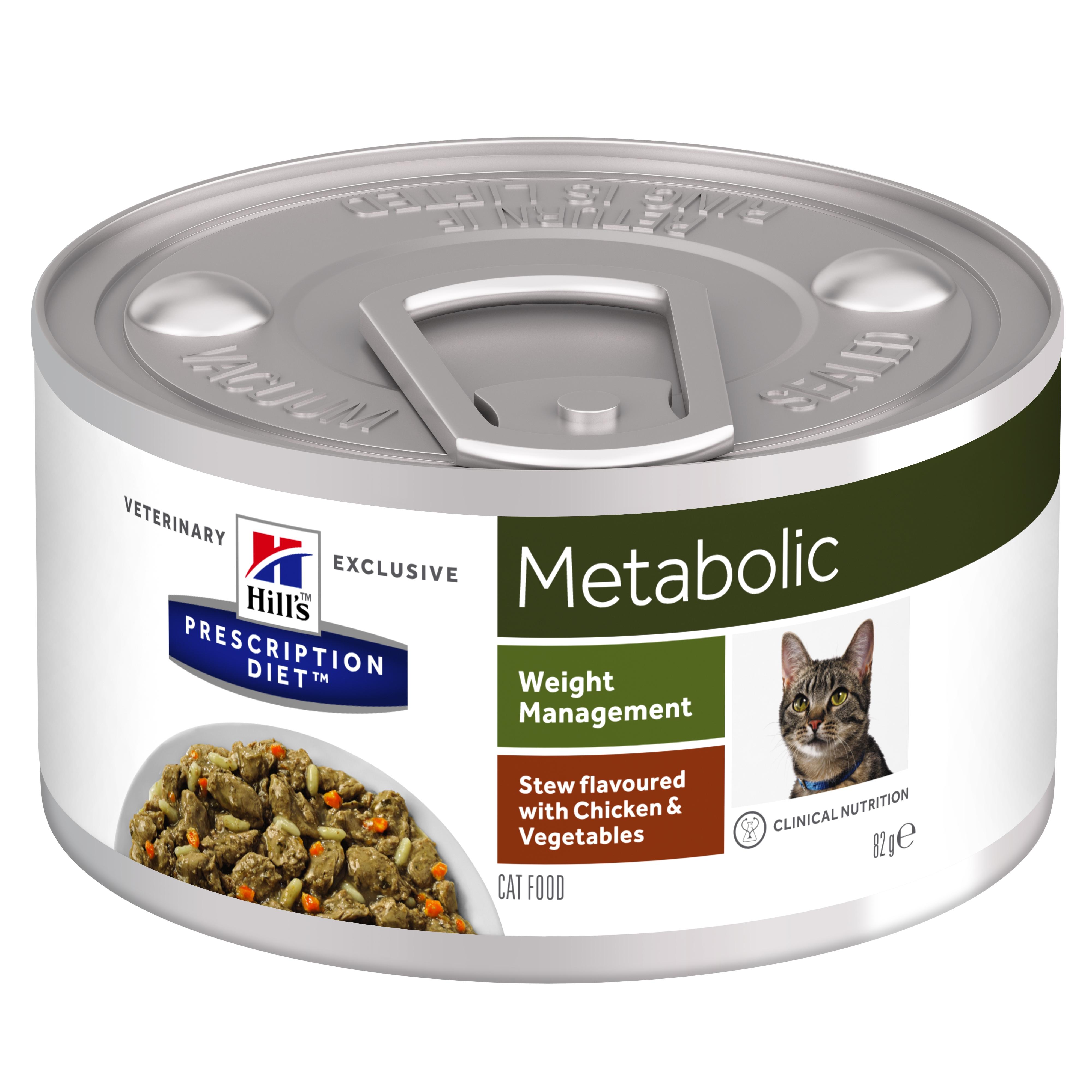 Hill's PD Metabolic Weight Management hrana pentru pisici cu pui si legume, 82 g imagine