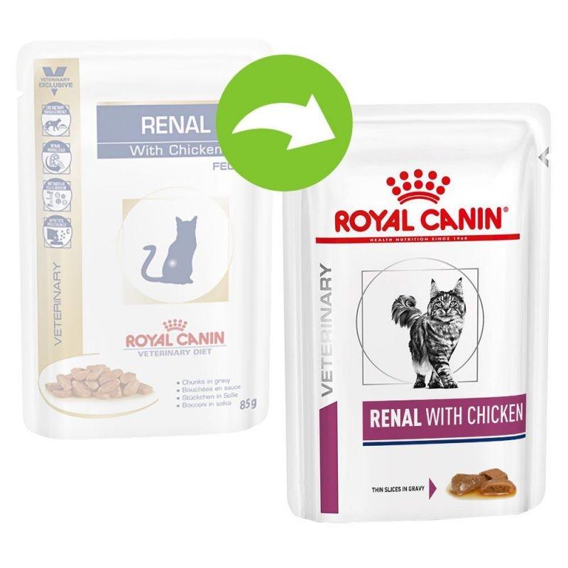 Royal Canin Renal Chicken Cat 1 plic x 85 g imagine