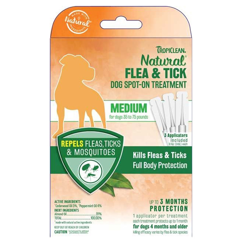 Pipeta antiparazitara, Tropiclean Medium Dog Spot-On, 3ml x 3 buc imagine