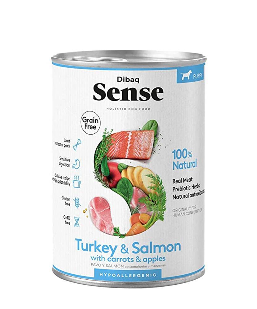 Dibaq Sense Turkey & Salmon, Puppy, 380g imagine