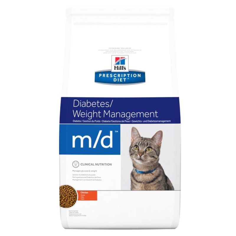 Hill's PD m/d Diabetes, Weight Management hrana pentru pisici 5 kg imagine