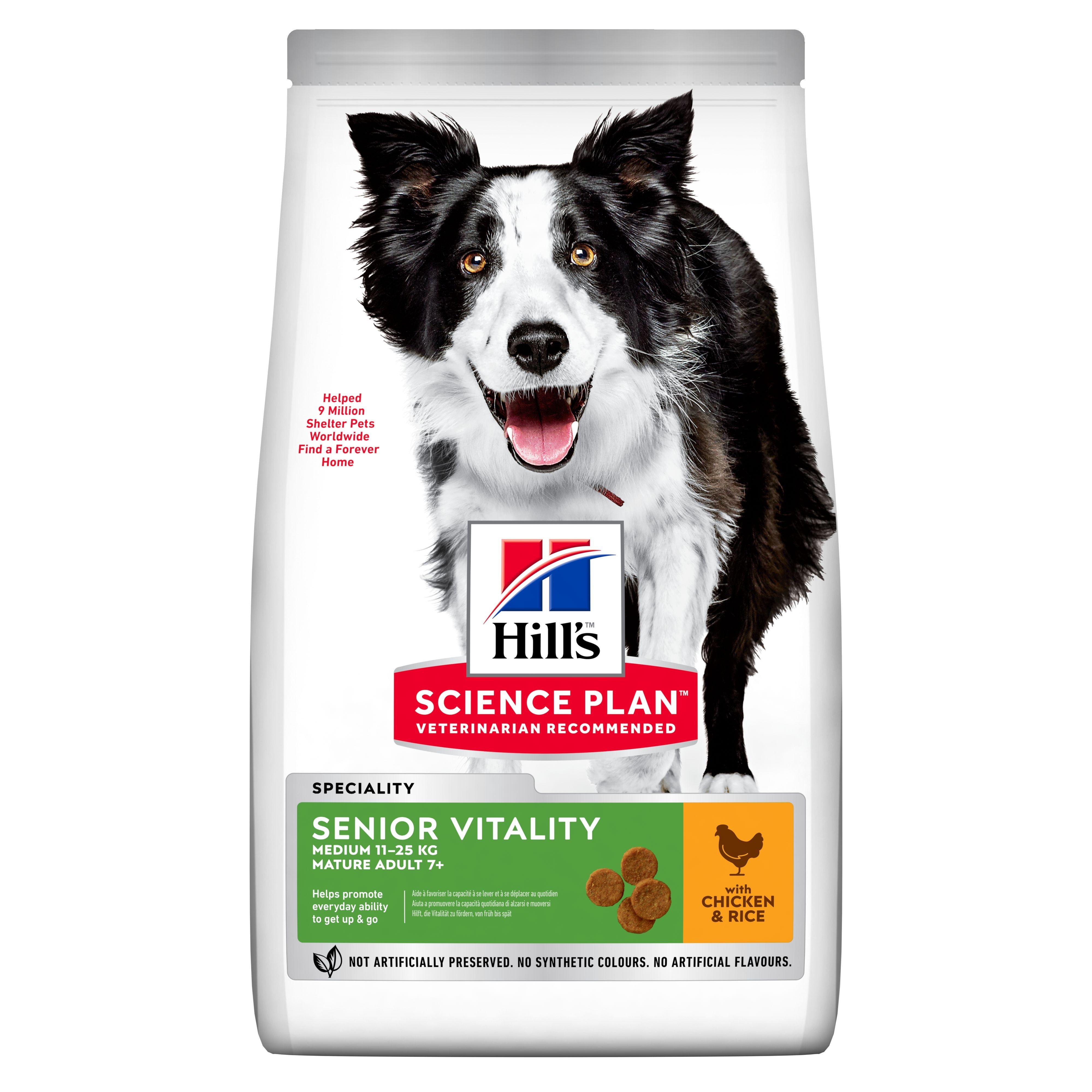Hill's SP Canine Senior Vitality Medium Chicken, 2.5 kg imagine