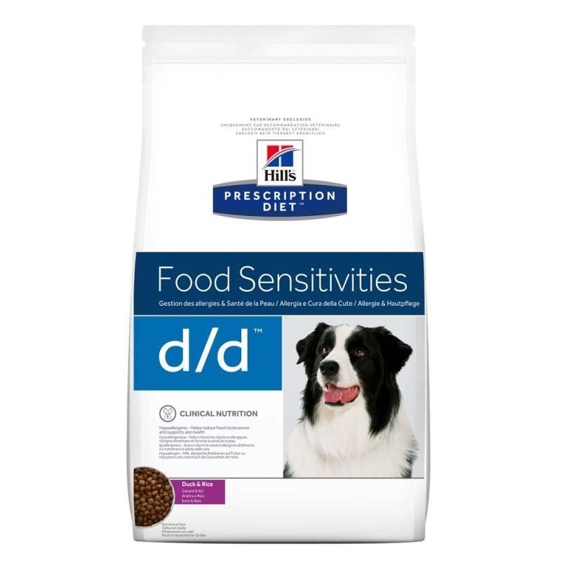 Hill's PD d/d Food Sensitivities hrana pentru caini cu rata si orez imagine