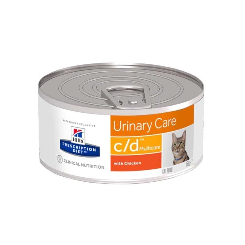 Hill's PD c/d Urinary Care hrana pentru pisici cu pui 156 g imagine