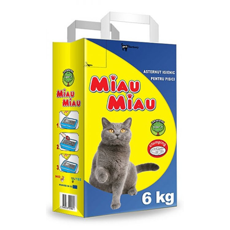 Asternut igienic, Miau Miau, Clasic, 6kg imagine