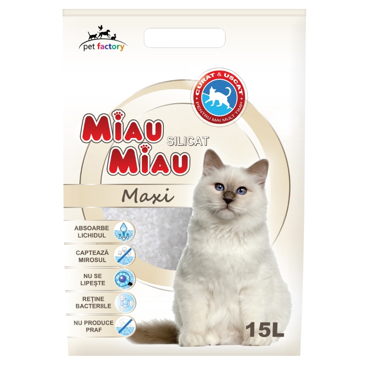 Asternut silicatic, Miau Miau, Maxi, 15l imagine