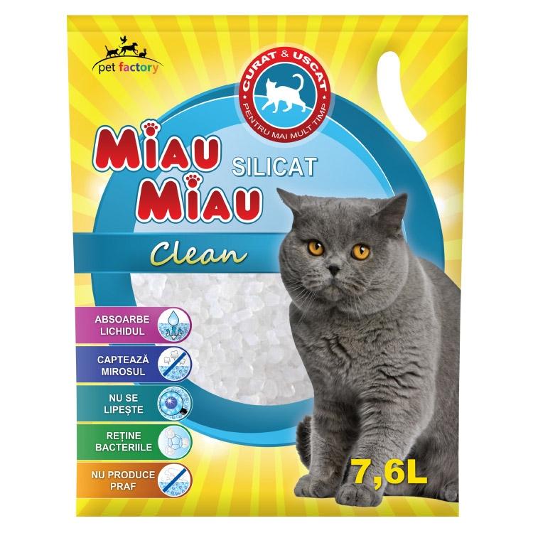 Asternut silicatic, Miau Miau, Clean, 7.6l imagine