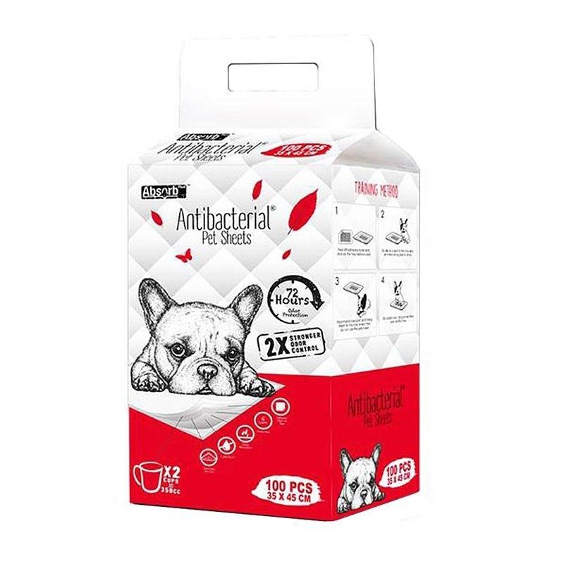 Absorbant Plus Antibacterian Pet Sheet, 35 x 45 cm, 100 bucati imagine