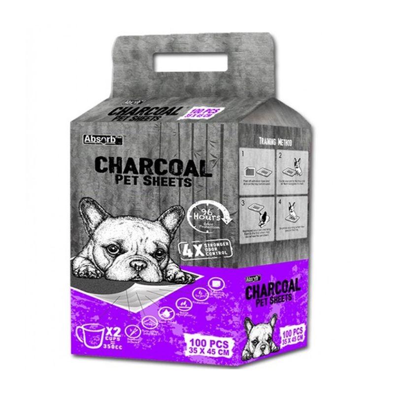 Absorbant Plus Charcoal Pet Sheet, 35 x 45 cm, 100 bucati imagine