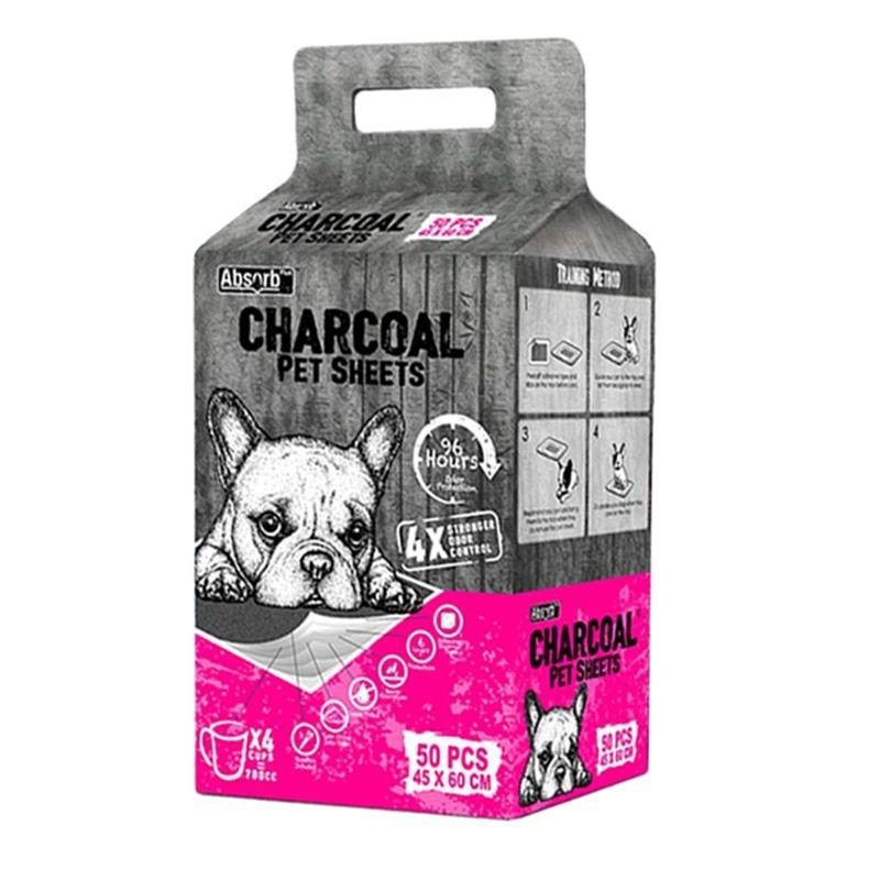 Absorbant Plus Charcoal Pet Sheet, 45 x 60 cm, 50 bucati imagine