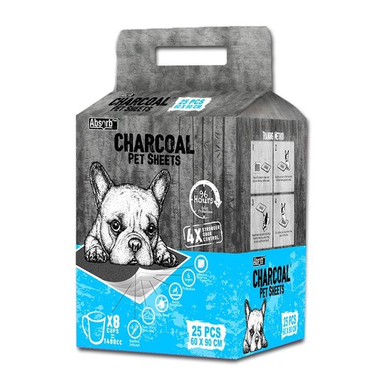 Absorbant Plus Charcoal Pet Sheet, 60 x 90 cm, 25 bucati imagine