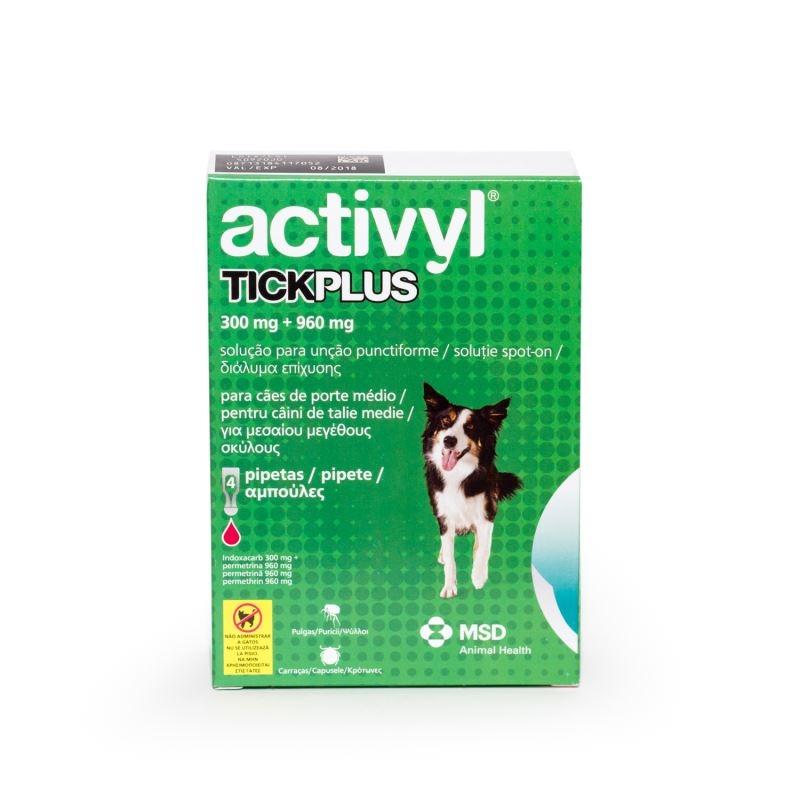 Activyl Tick Plus M 300 mg (10 - 20kg), 4 pipete imagine