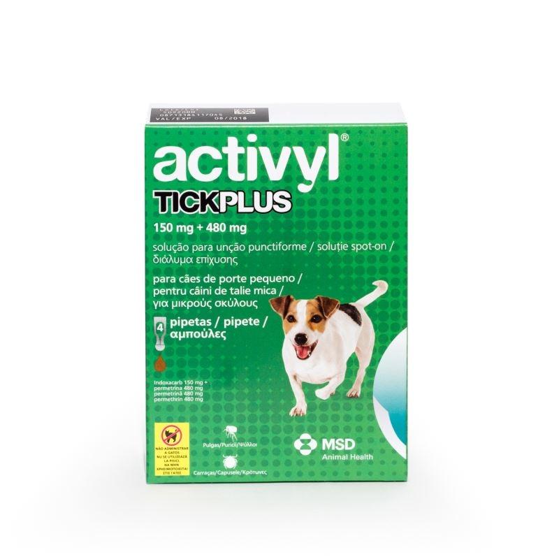 Activyl Tick Plus Sm 150 mg (5 - 10 kg), 4 pipete imagine