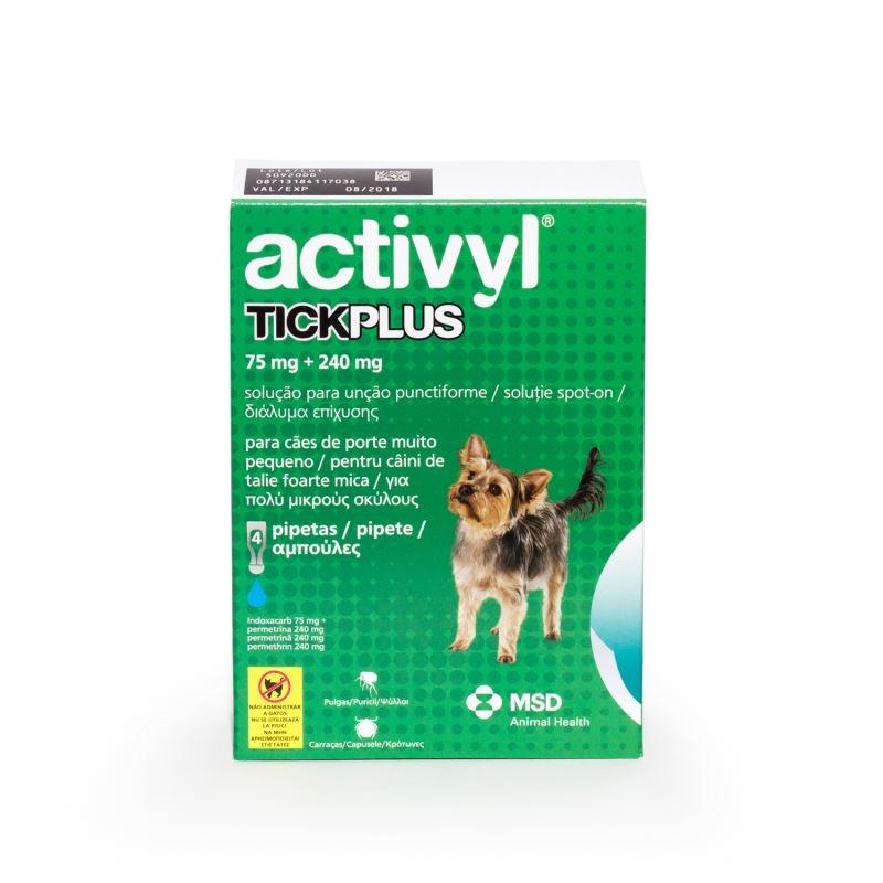 Activyl Tick Plus Toy Dog 75 mg (0 - 5 kg), 4 pipete imagine