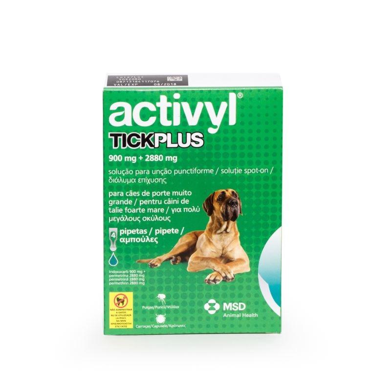 Activyl Tick Plus XL 900 mg (40 - 60 kg), 4 pipete imagine