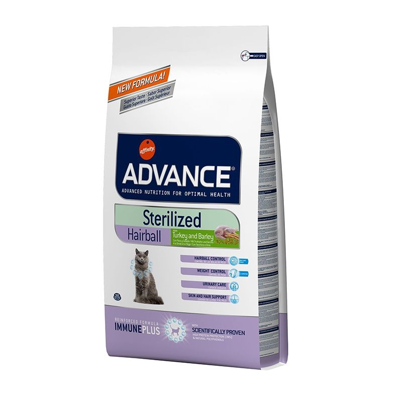 Advance Cat Sterilised Hairball, 10 kg imagine
