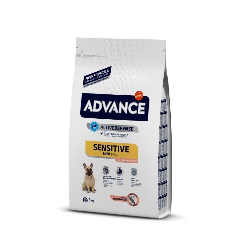 Advance Dog Mini Sensitive Somon & Orez, 3 kg imagine