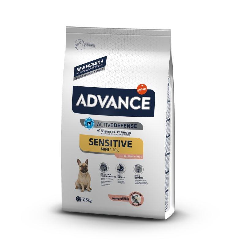 Advance Dog Mini Sensitive Somon & Orez, 7.5 kg imagine