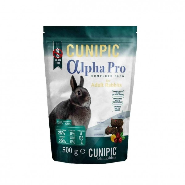 Hrana iepuri, Cunipic Alpha Pro, 500 g imagine