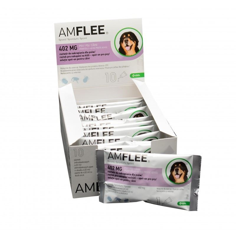 AMFLEE DOG 402 mg spot-on, XL (40-60 Kg), 10 pipete imagine