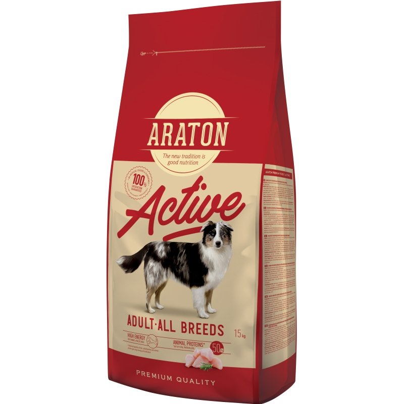 Araton Dog Adult Active, 15 Kg imagine