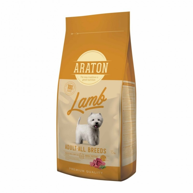 Araton Dog Adult Lamb & Rice, 15 Kg imagine