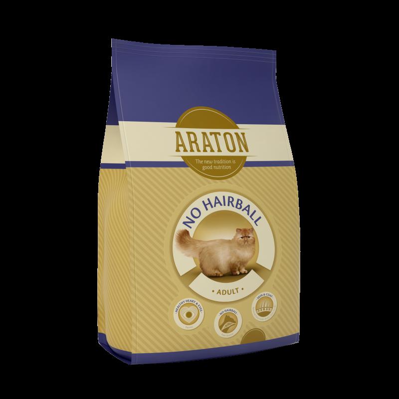Araton Cat Adult No Hairball, 15 Kg imagine