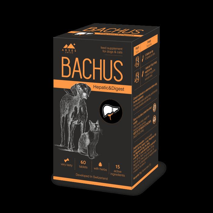 BACHUS Hepatic & Digest, suplimente nutritive pentru caini si pisici imagine