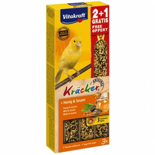 Batoane pentru canari, Vitakraft Kracker Miere & Susan, 60 g + 30 g imagine