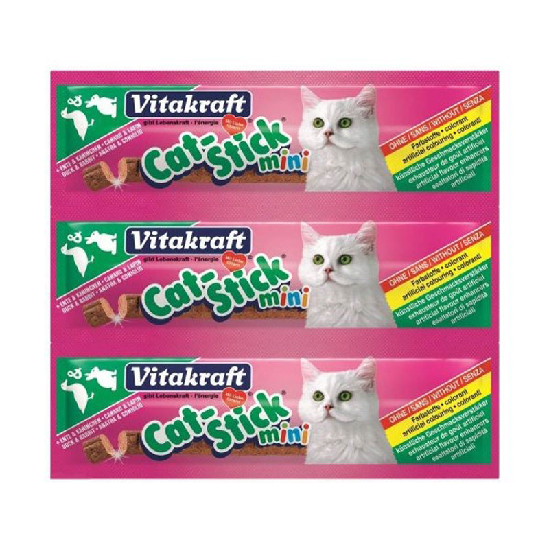 Baton Pisica Mini Vitakraft Pasare/ficat 3 Buc