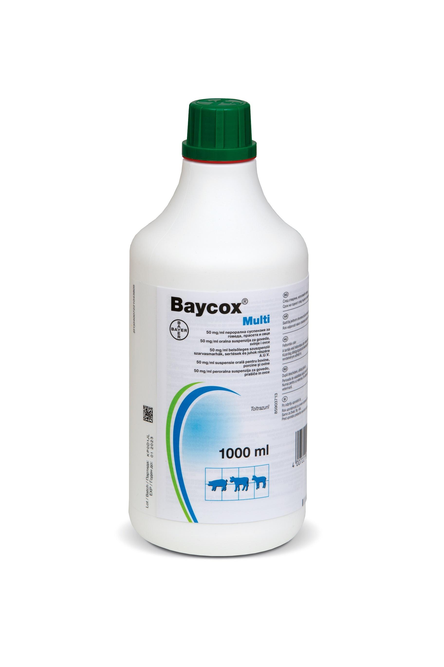 Baycox 5% MULTI Suspensie orala, 1 l imagine