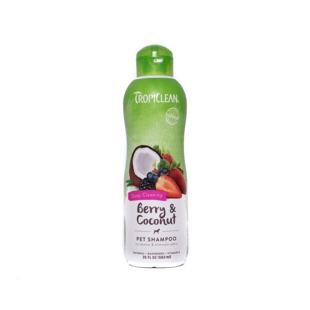 Sampon pentru caini si pisici, Tropiclean Berry & Coconut, 355 ml imagine