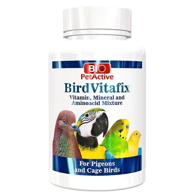 Mix vitamino-mineral pentru pasari ornamentale si porumbei, Bio PetActive Bird Vita Fix Powder, 75 g imagine
