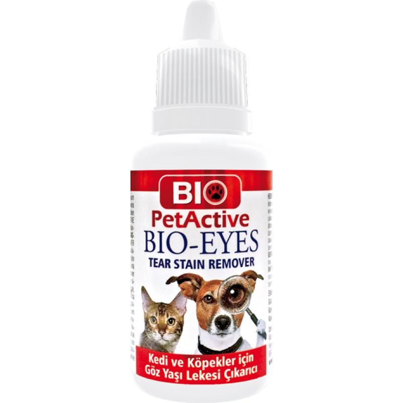 Solutie oculara pentru caini si pisici, Bio PetActive Eyes Tear Stain Remover, 50 ml imagine